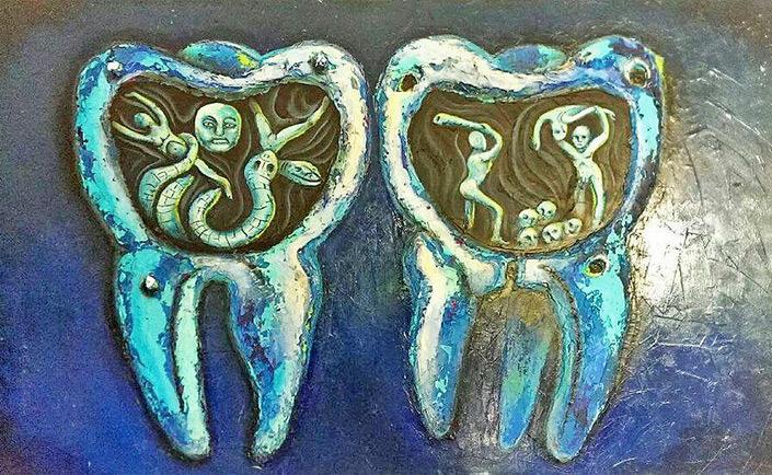 """Изображение на """"зъбен червей"""" от неизвестен френски автор през 18 век. Снимка: cyberanto.wordpress.com"""