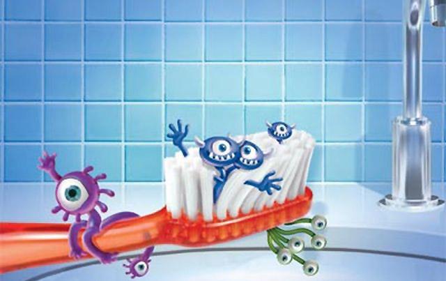 почистване на четката за зъби